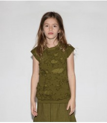 Nununu Torn Sleeveless Shirt Nununu Torn Sleeveless Shirt rusty green