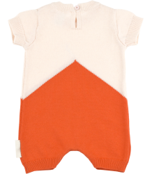 Tiny Cottons COLOR BLOCK Knit Baby Onepiece Tiny Cottons COLOR BLOCK Knit Baby Onepiece orange