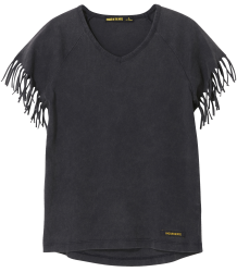 Finger in the Nose Gorgeous Fringed Sleeve T-shirt Finger in the Nose Gorgeous Fringed Sleeve T-shirt vintage black