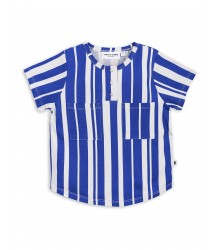 Mini Rodini ODD STRIPE Baseball Tee
