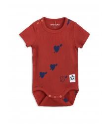 Mini Rodini HEART Rib SS Body