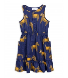 Mini Rodini HORSE Woven Flounce Dress