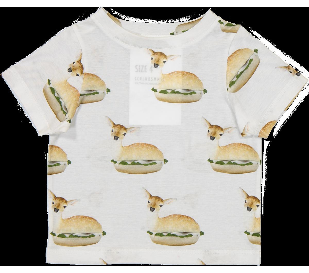 Caroline Bosmans Dee Licious T Shirt Bambi Burger Orange Mayonn