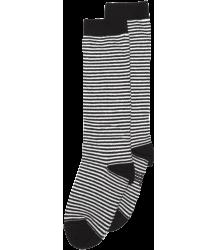 Mingo Knie Sok STREPEN Mingo Knee Socks STRIPES black