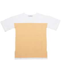 Mingo Bi-Color T-shirt Short Sleeve Mingo Bi-Color T-shirt Short Sleeve apricot white
