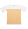 Mingo Bi-Color T-shirt Short Sleeve Mingo Bi-Color T-shirt Short Sleeve apricot white