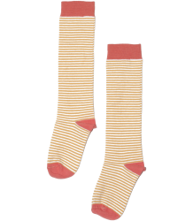 Mingo Knee Socks STRIPED Mingo Knee Socks STRIPED nari gold and coral