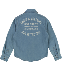 Zadig & Voltaire Kids Jeans Shirt ART IS TRUTH Zadig & Voltaire Kids Jeans shirt ART IS TRUTH