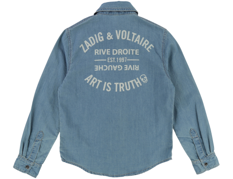 Zadig & Voltaire Kids Jeans Shirt ART IS TRUTH