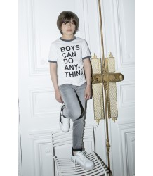 Zadig & Voltaire Kids Vintage SS Tee BOYS CAN DO Zadig & Voltaire Kids Vintage SS Tee BOYS CAN DO