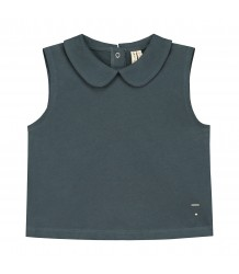 Gray Label Collar Tank Top Gray Label Collar Tank Top grey blue