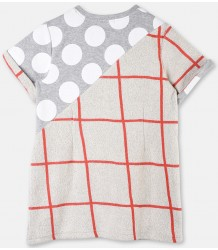 Stella McCartney Kids Cassia Sweat Dress CHECKS & DOTS Stella McCartney Kids Cassia Sweat Dress CHECKS & DOTS