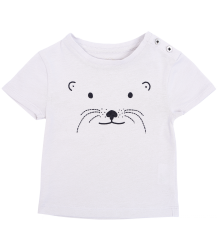 Emile et Ida Baby Tee Shirt ANIMAL FACE Emile et Ida Baby Tee Shirt ANIMAL FACE