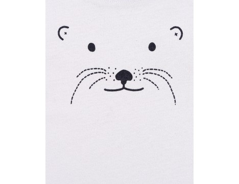 Emile et Ida Baby Tee Shirt ANIMAL FACE