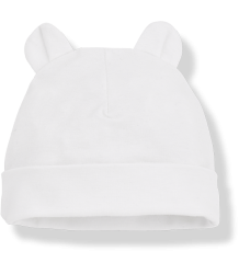 1+ in the Family LEO Bonnet w/Ears 1  in the Family Leo Bonnet white