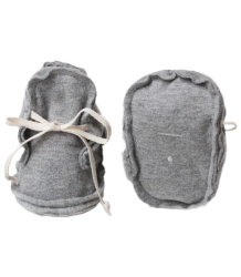 Gray Label Baby Raw Edged Booties Gray Label Raw Edge Booties, grey melange