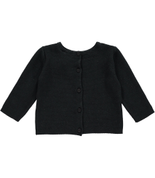 Mini Sibling Knit Reversible Sweater-Cardigan Mini Sibling Baby Knit Sweater-Cardigan Black