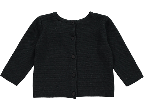 Mini Sibling Knit Reversible Sweater-Cardigan