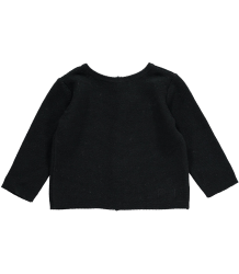 Mini Sibling Knit Sweater-Cardigan Mini Sibling Baby Knit Sweater-Cardigan Black
