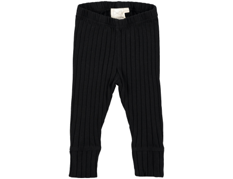 Mini Sibling Baby Ribbed Slim Pants with Cuffs