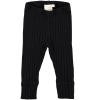 Mini Sibling Baby Ribbed Slim Pants with Cuffs Mini Sibling Baby Ribbed Slim Pants with Cuffs black