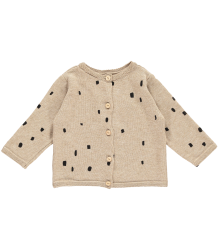 Mini Sibling Knit Reversible Sweater-Cardigan CONFETTI Mini Sibling Baby Knit Sweater-Cardigan CONFETTI oatmeal