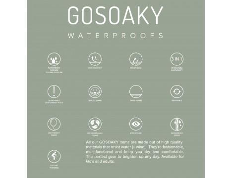 GoSoaky CROUCHING TIGER Unisex Rain Cape