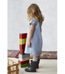 Little Hedonist TESSEL Dress Little Hedonist TESSEL Dress light faded denim