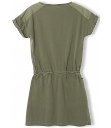 Finger in the Nose School Jersey Short Sleeve Dress Finger in the Nose School Jersey Short Sleeve Dress khaki