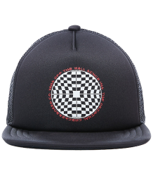 VANS Vans Logo Trucker Hat Kids VANS Vans Logo Trucker Cap Kids off the wall checkerboard print