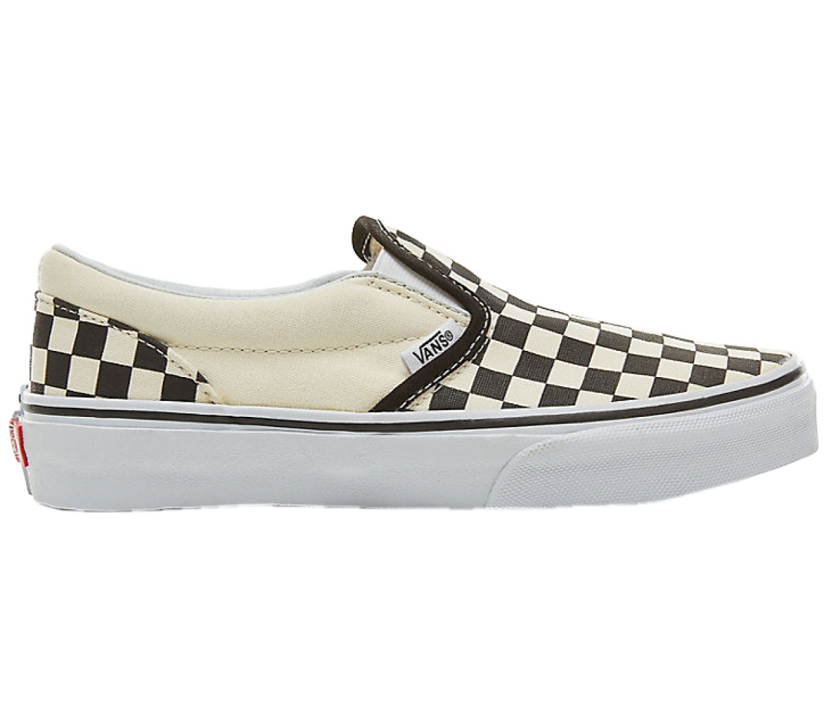 kids checkerboard slip on vans