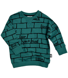 Little Man Happy TEAR DOWN THE WALL Loose Sweater Little Man Happy TEAR DOWN THE WALL Loose Sweater