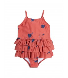 Mini Rodini HEART Frill Swimsuit