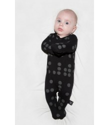 Nununu BRAILLE Footed Overall Nununu BRAILLE Footed Overall black