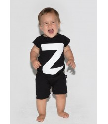 Nununu Sleeveless Playsuit LETTER Nununu Sleeveless Playsuit LETTER black Z