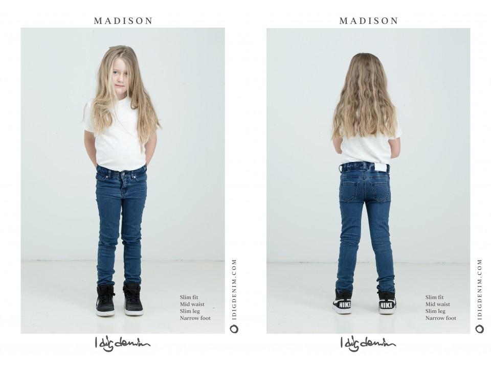 713197618 I DIG DENIM Madison Jeans STRIPE - Orange Mayonnaise
