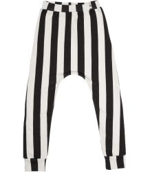 Popupshop Baggy Leggings Popupshop Baggy Leggings black offwhite stripe