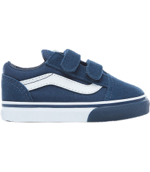 VANS Old Skool V Toddlers Mono Bumper VANS Old Skool V Toddlers Mono Bumper blue