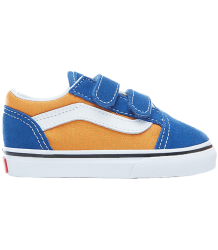 VANS Old Skool V Toddlers Pop VANS Old Skool V Toddlers Pop Blue Yellow gold