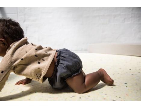 Mini Sibling Knit Reversible Sweater-Cardigan CONFETTI