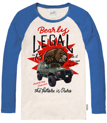 The Future is Ours Bearly Legal Baseball T-shirt The Future is Ours Bearly Legal Baseball T-shirt