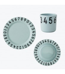 Design Letters NUMBERS Melamine Set Design Letters NUMBERS Melamine Set green