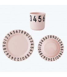 Design Letters NUMBERS Melamine Set Design Letters NUMBERS Melamine Set pink