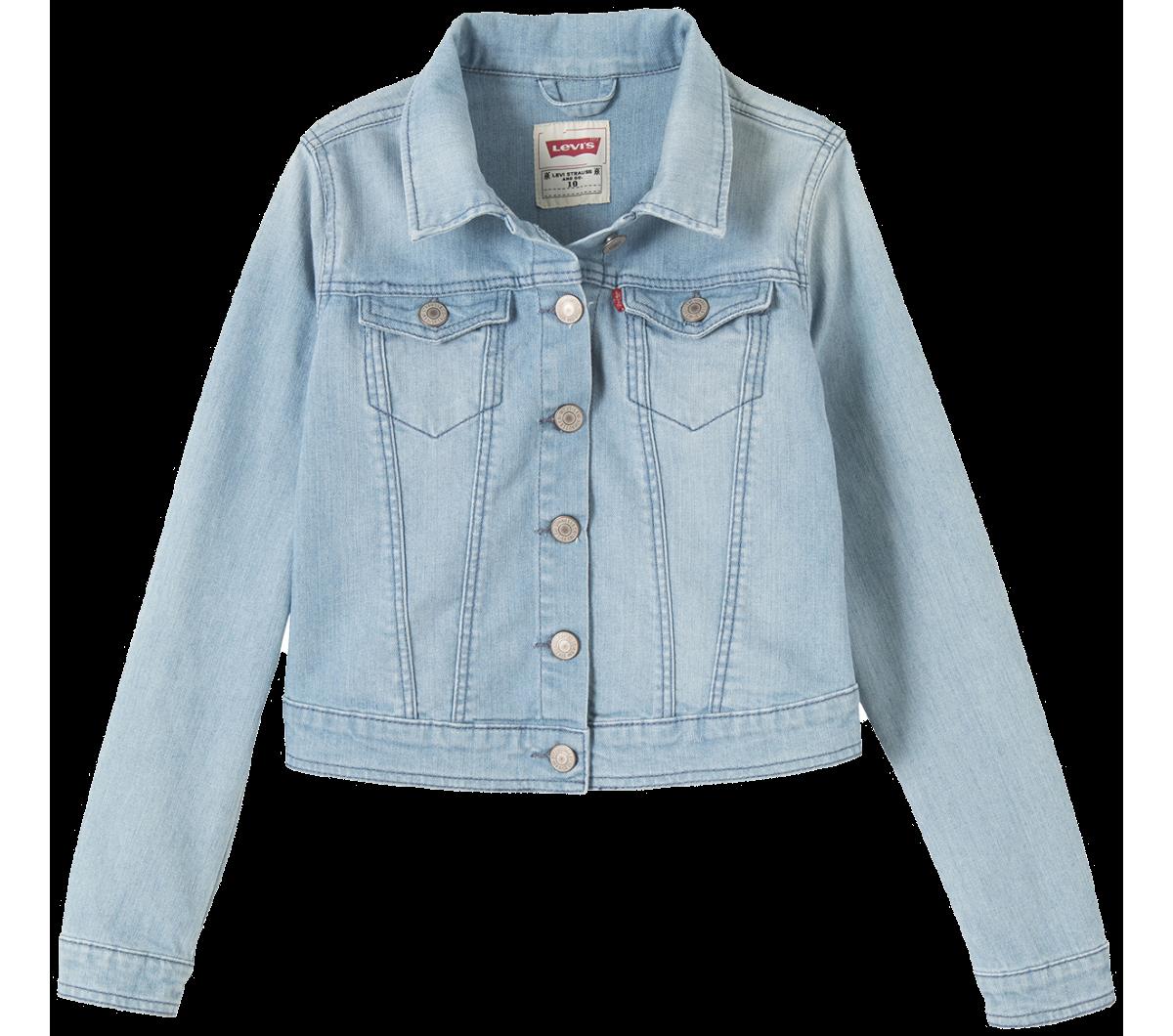 Levi's Kids Girls Trucker Jacket Orange Mayonnaise