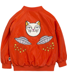 Mini Rodini SPACE CAT Baseball Jacket Mini Rodini SPACE CAT Baseball Jacket