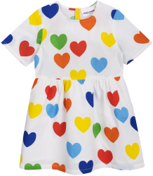 Mini Rodini RAINBOW LOVE Woven Dress Mini Rodini RAINBOW LOVE Woven Dress