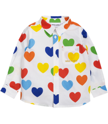 Mini Rodini RAINBOW LOVE Woven LS Shirt Mini Rodini RAINBOW LOVE Woven Dress