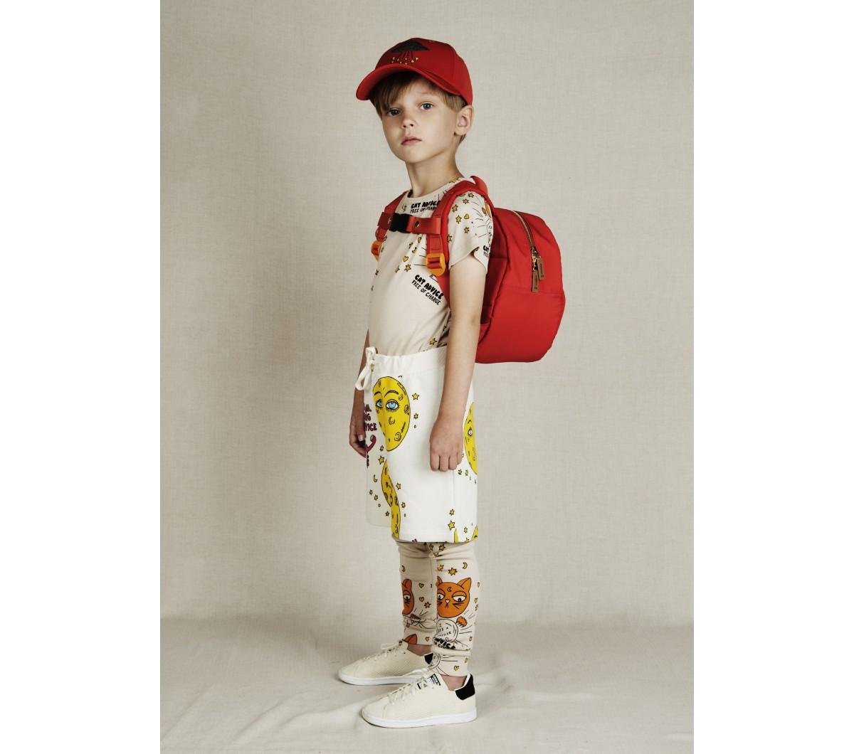 Mini Rodini Kids Girls Boys Organic Cotton Cat Advice Top Long Sleeve Tee