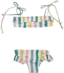 Hugo Loves Tiki Ruffled Bikini STRIPES Hugo Loves Tiki Ruffled Bikini STRIPES