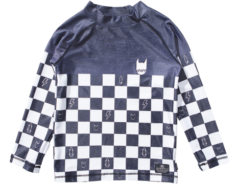 Munster Kids CHECKER Dye Rashie Top
